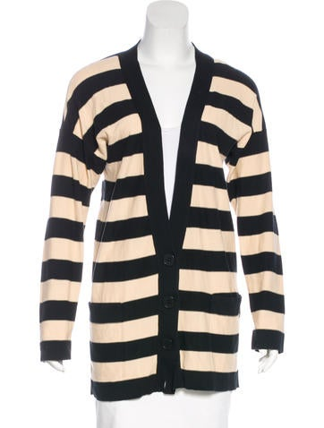 Sonia Rykiel Striped Longline Cardigan None