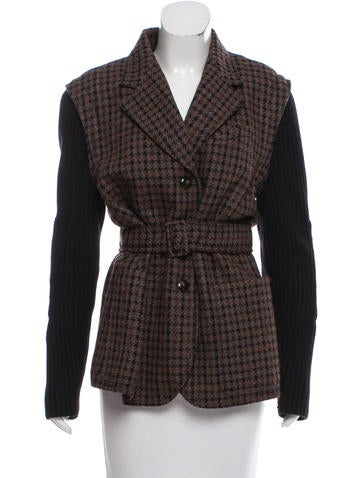Sonia Rykiel Structured Wool Coat None