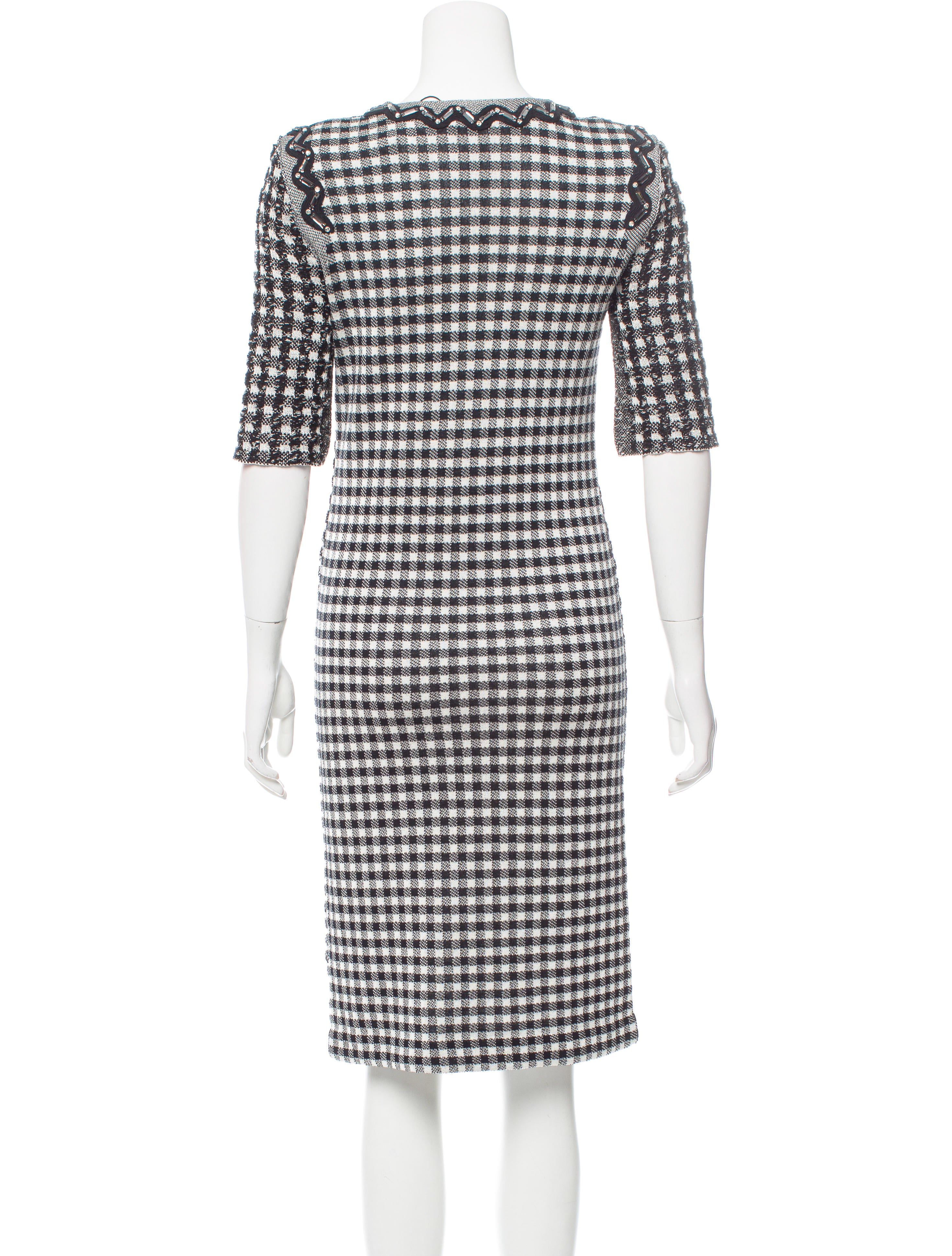 sonia rykiel plaid midi dress w tags clothing son25287 the realreal. Black Bedroom Furniture Sets. Home Design Ideas