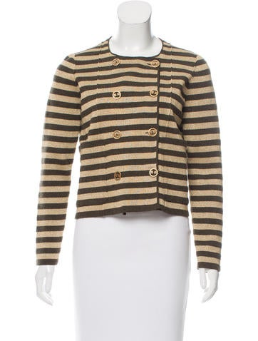 Sonia Rykiel Striped Double-Breasted Jacket w/ Tags None