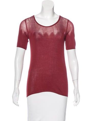 Sonia Rykiel Silk-Blend Knit Top w/ Tags None