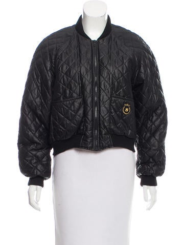 Sonia Rykiel Quilted Bomber Jacket None