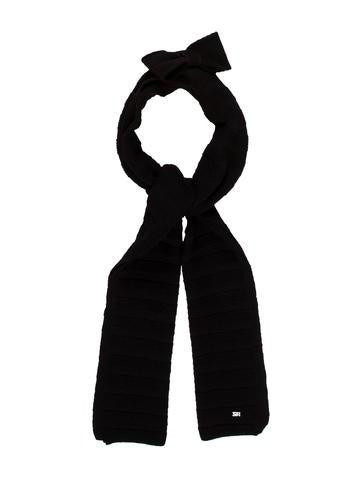 Sonia Rykiel Bow Rib Knit Scarf None