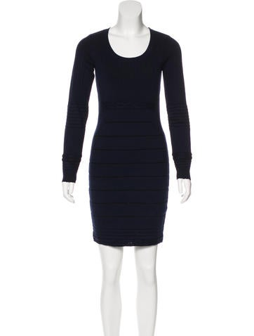 Sonia Rykiel Wool-Blend Sweater Dress None
