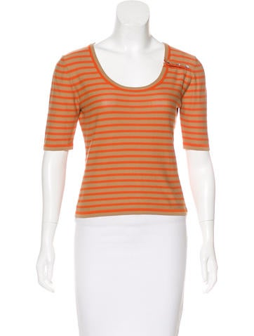 Sonia Rykiel Striped Knit Top None