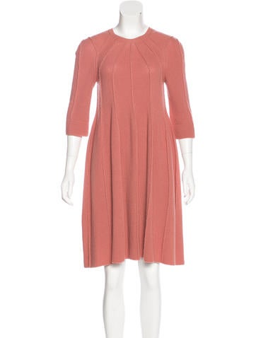 Sonia Rykiel Wool Knit Knee-Length Dress None