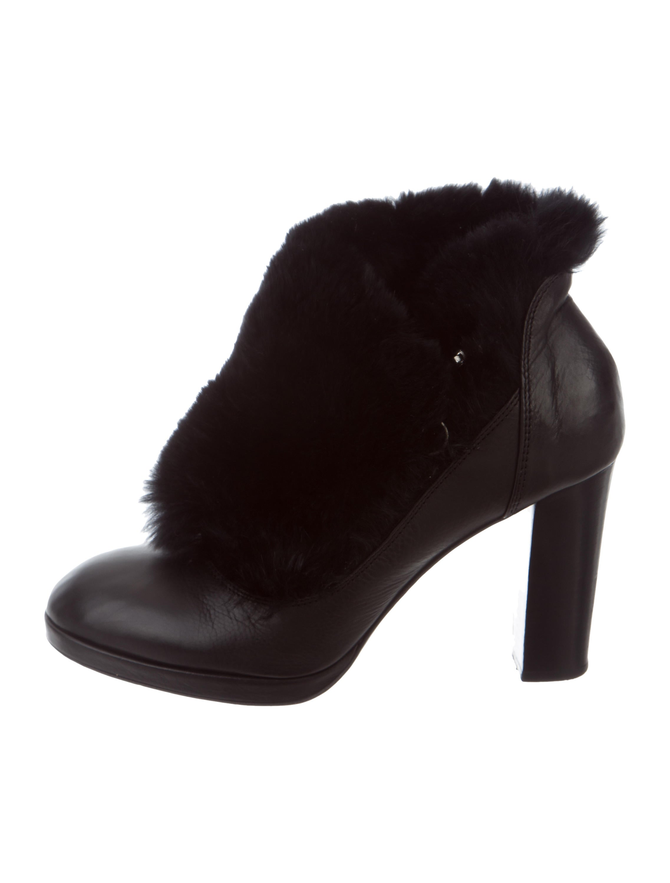 outlet fashion Style Sonia Rykiel Fur-Trimmed Leather Ankle Boots cheap sale for sale wholesale price cheap price genuine kzReVM32Ns