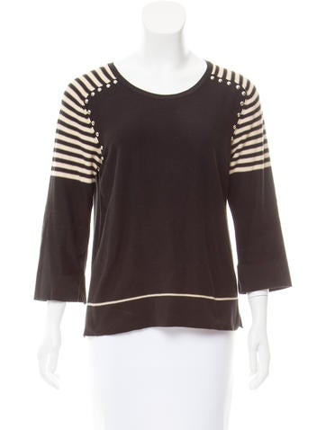 Sonia Rykiel Embellished Striped Sweater None