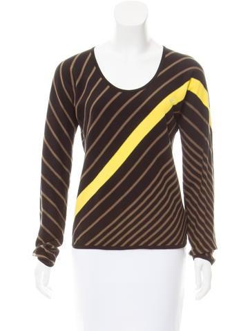 Sonia Rykiel Embellished Striped Sweater None