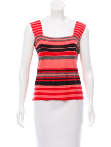 Sonia Rykiel Cashmere Sleeveless Top None