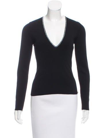 Sonia Rykiel Embellished Wool Sweater w/ Tags None