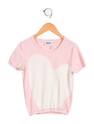 Sonia Rykiel Girls' Knit Short Sleeve Top None