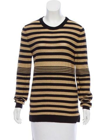 Sonia Rykiel Metallic Striped Sweater None