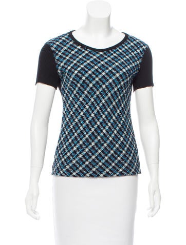 Sonia Rykiel Patterned Short Sleeve Top None