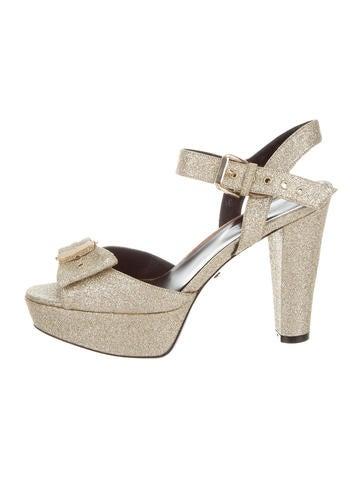 Sonia Rykiel Glitter Platform Sandals None