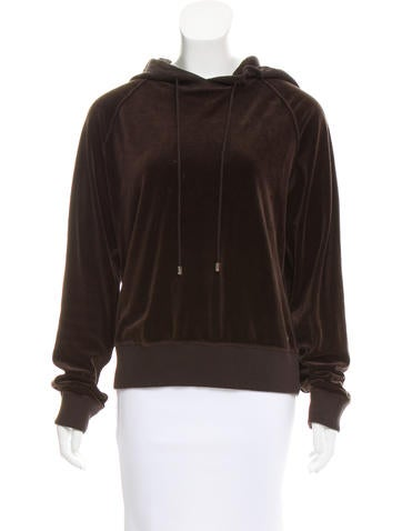 Sonia Rykiel Velvet Hooded Sweatshirt None