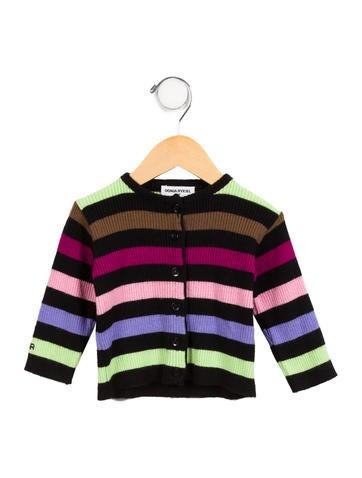Sonia Rykiel Girls' Rib Knit Striped Cardigan None