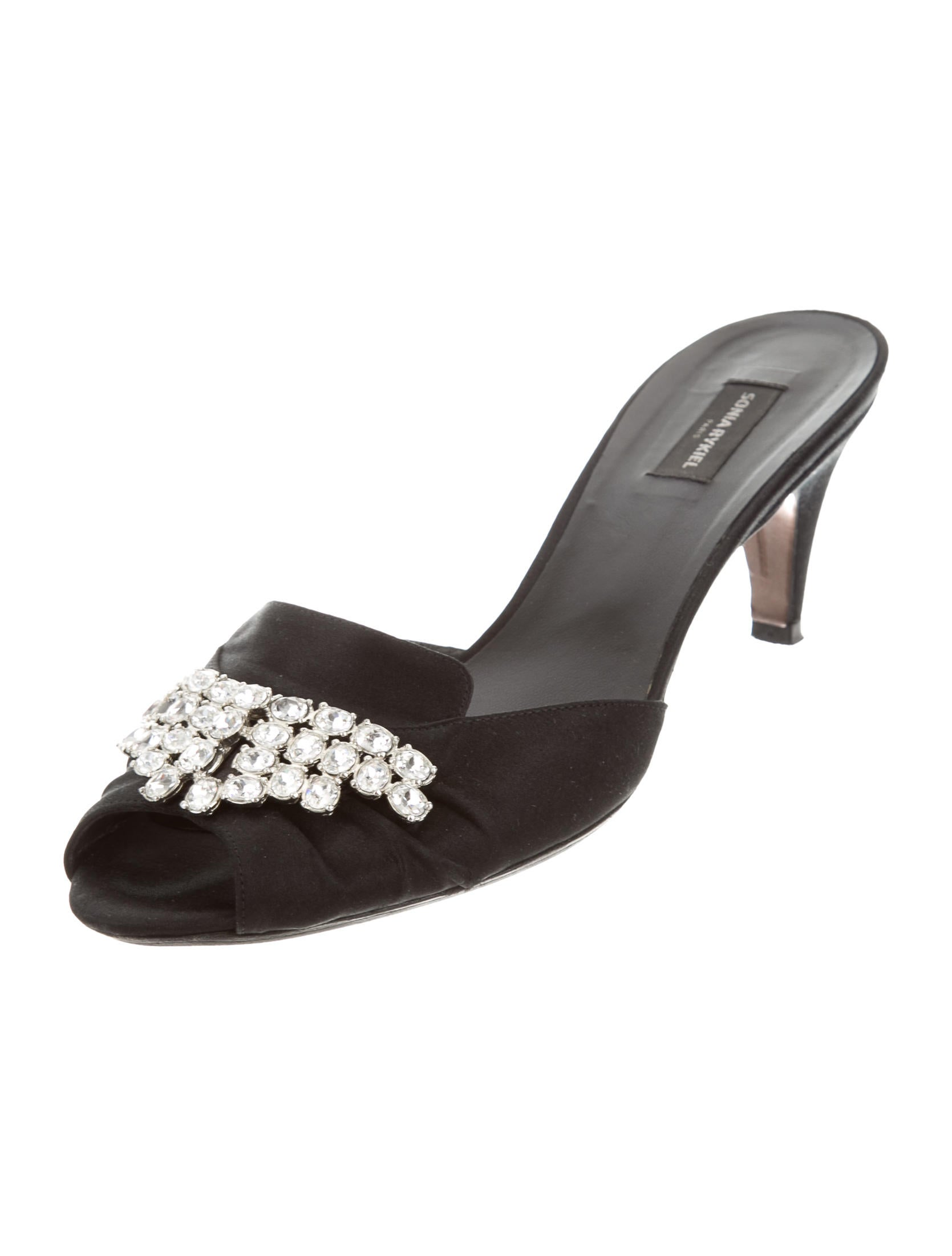 latest collections Sonia Rykiel Embellished Satin Mules huge surprise cheap price buy cheap wide range of where can you find newest online 3hWlv1Llnm