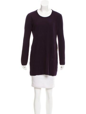Sonia Rykiel Virgin Wool & Cashmere Dress None