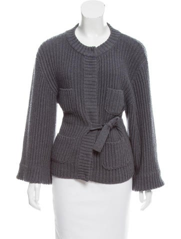 Sonia Rykiel Rib Knit Wool Cardigan None