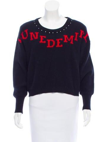 Sonia Rykiel Wool Intarsia Knit Sweater None