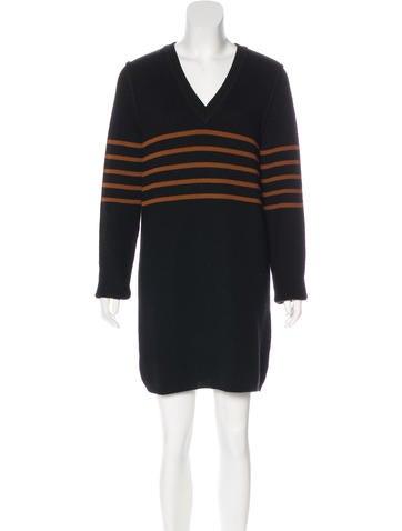 Sonia Rykiel Virgin Wool Sweater Dress None