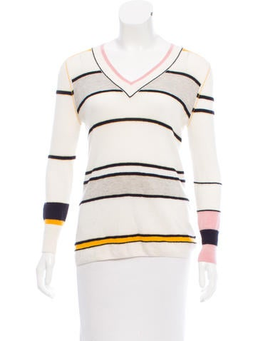 Sonia Rykiel Striped Cashmere Sweater None