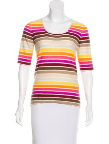 Sonia Rykiel Striped Cashmere Top None