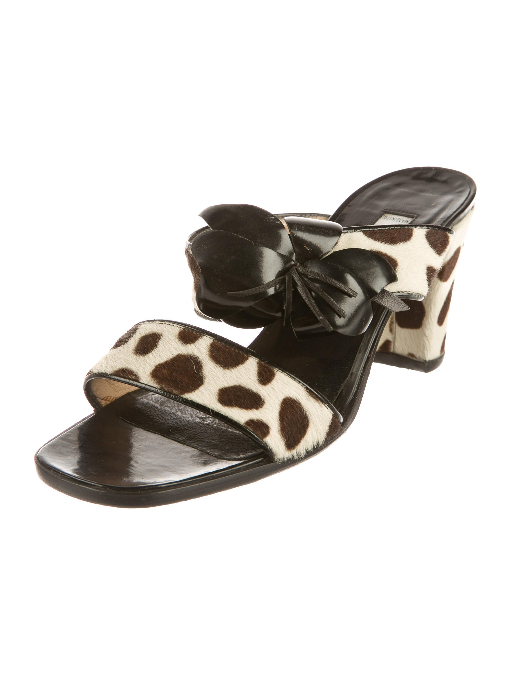 sale affordable Sonia Rykiel Ponyhair Slide Sandals outlet best store to get sale wiki s2qGjEmFMI