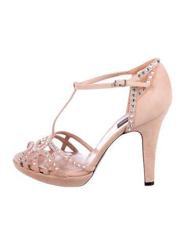 Sonia Rykiel Suede Embellished Sandals None