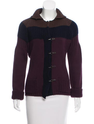 Sonia Rykiel Colorblock Knit Cardigan None