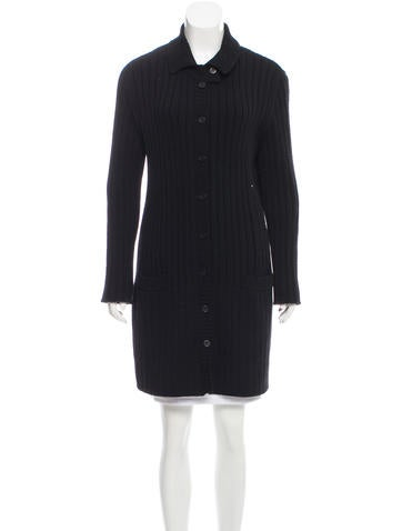 Sonia Rykiel Wool Rib Knit Cardigan None