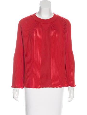 Sonia Rykiel Wool-Blend Pleated Sweater w/ Tags None