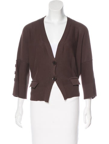 Sonia Rykiel Rib Knit Cardigan None