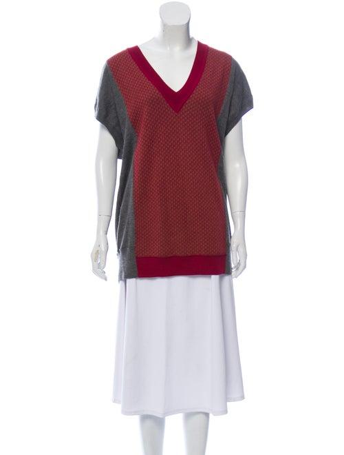Sonia Rykiel Cashmere Short Sleeve Sweater Grey
