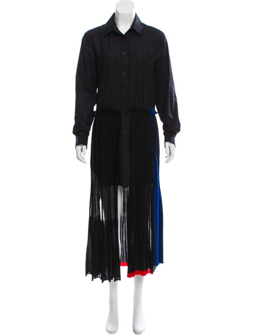 Sonia Rykiel Pleated Shirt Dress Black