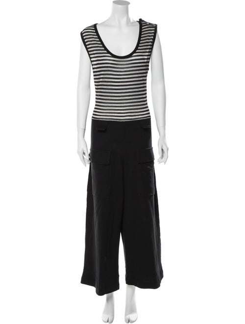 Sonia Rykiel Metallic Patterned Jumpsuit Black