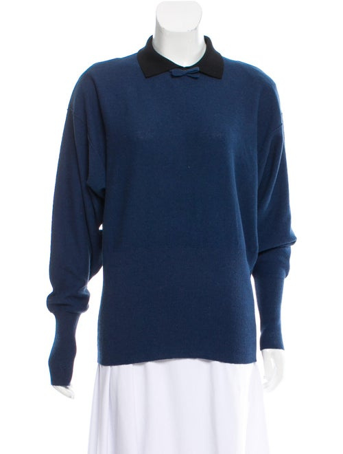Sonia Rykiel Lightweight Collared Sweater Blue