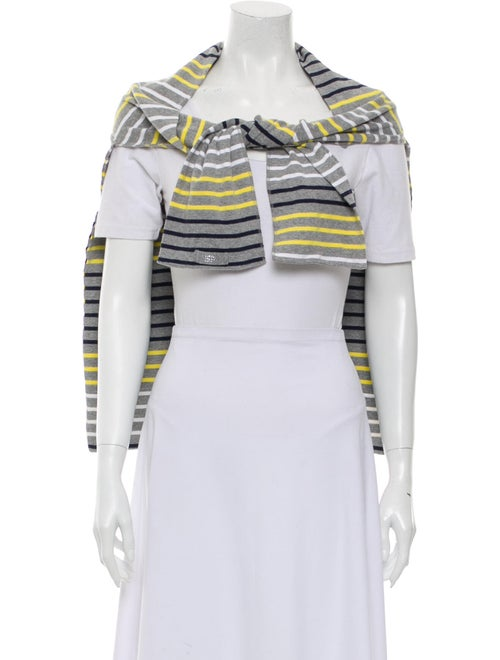 Sonia Rykiel Woven Striped Scarf Grey