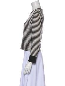 Sonia Rykiel Striped Scoop Neck Top