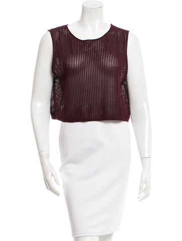 Sophie Theallet Open Knit Silk Top w/ Tags None