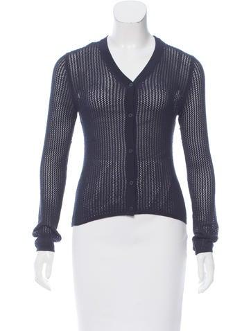Sophie Theallet Open-Knit Silk Cardigan None