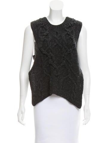 Spencer Vladimir Cable Knit Cutout Top None