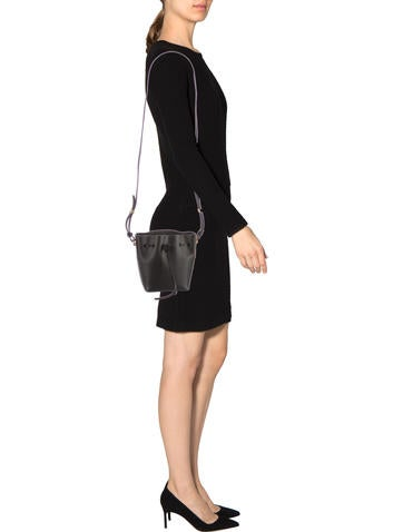 Leather Mini Bucket Bag w/ Tags