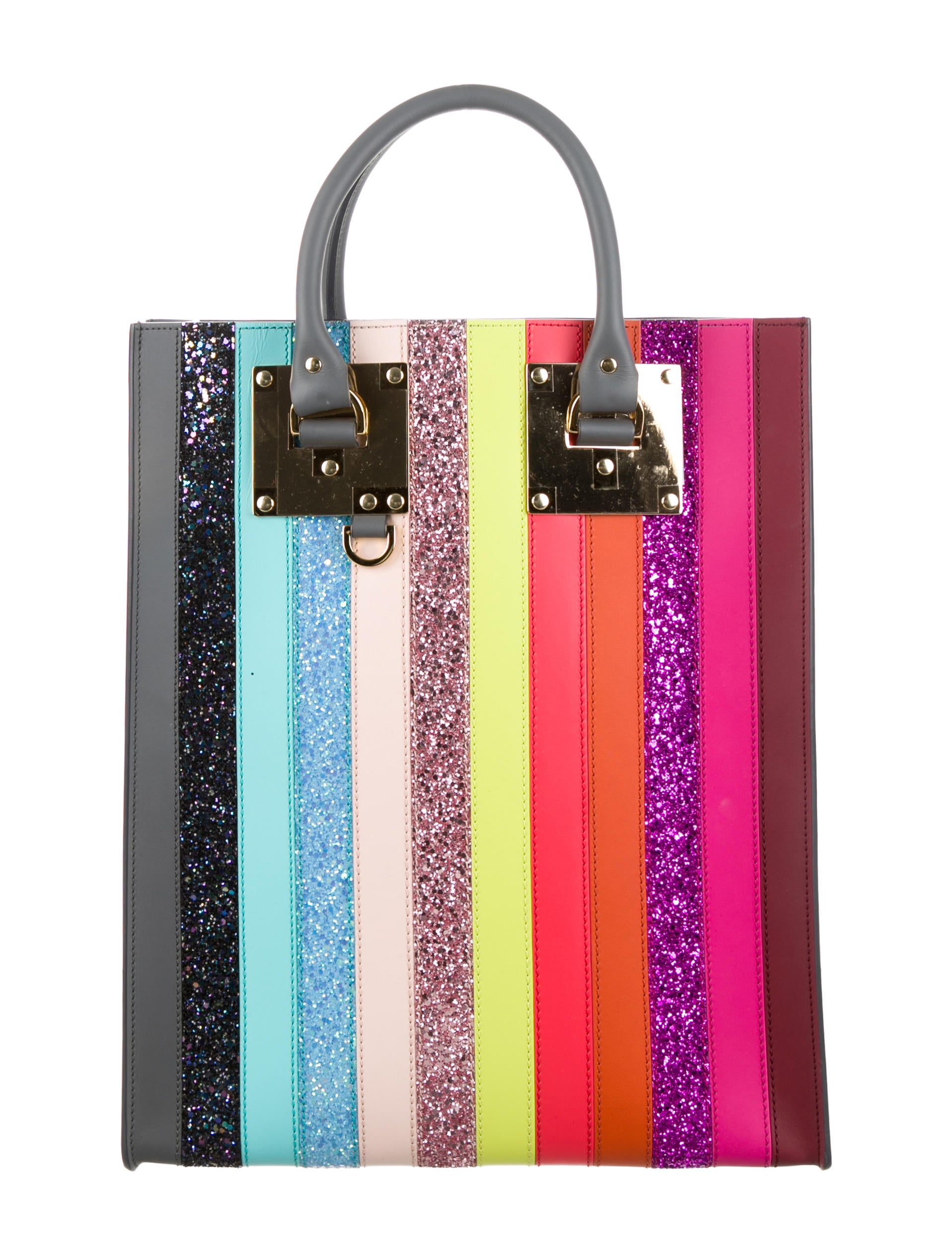 Albion Glitter Rainbow Tote W Tags