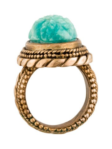 Carved Russian Amazonite ring