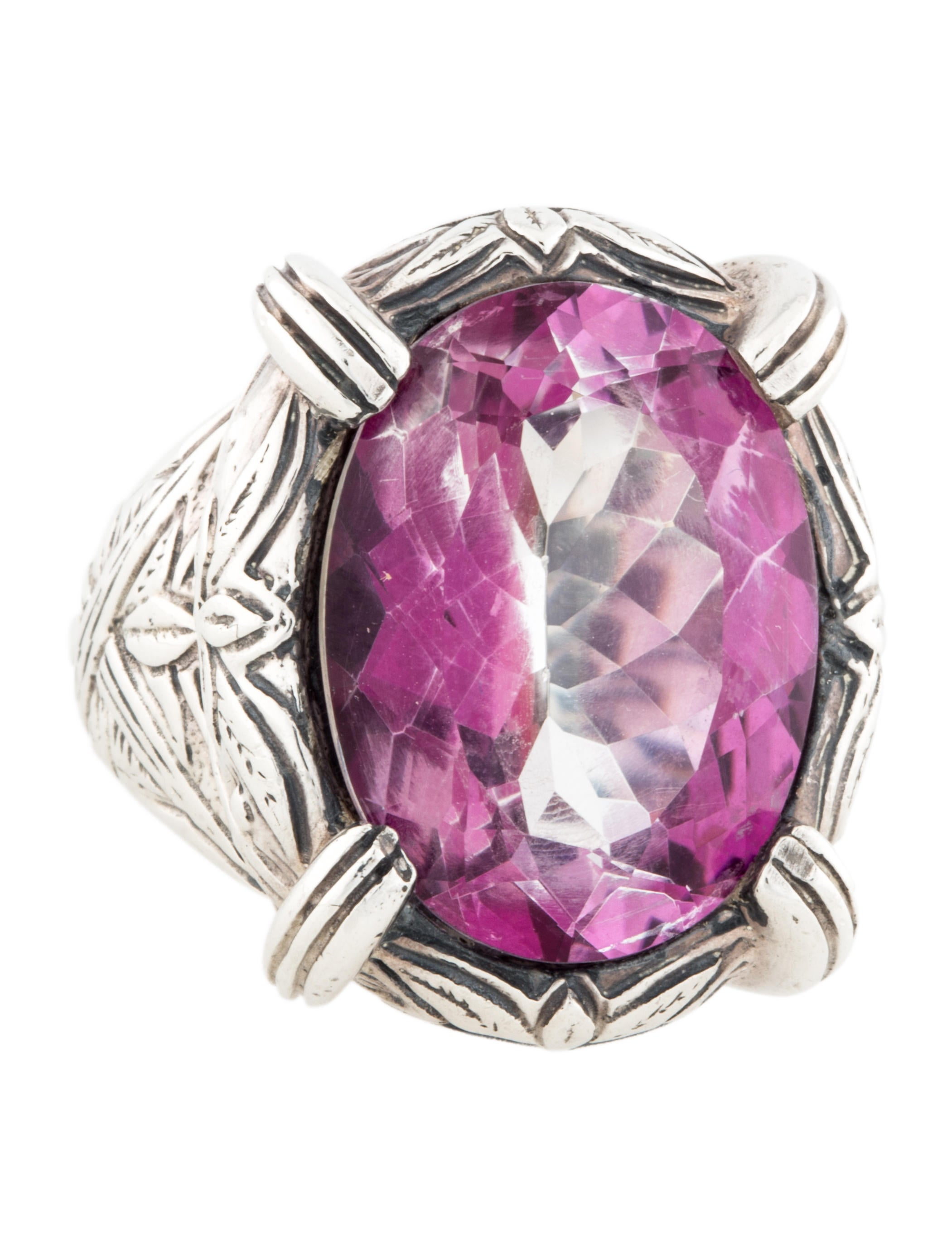 stephen dweck sterling silver amethyst cocktail ring