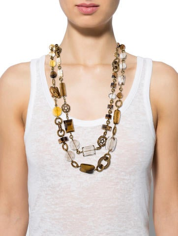 Beaded Double Strand Necklace