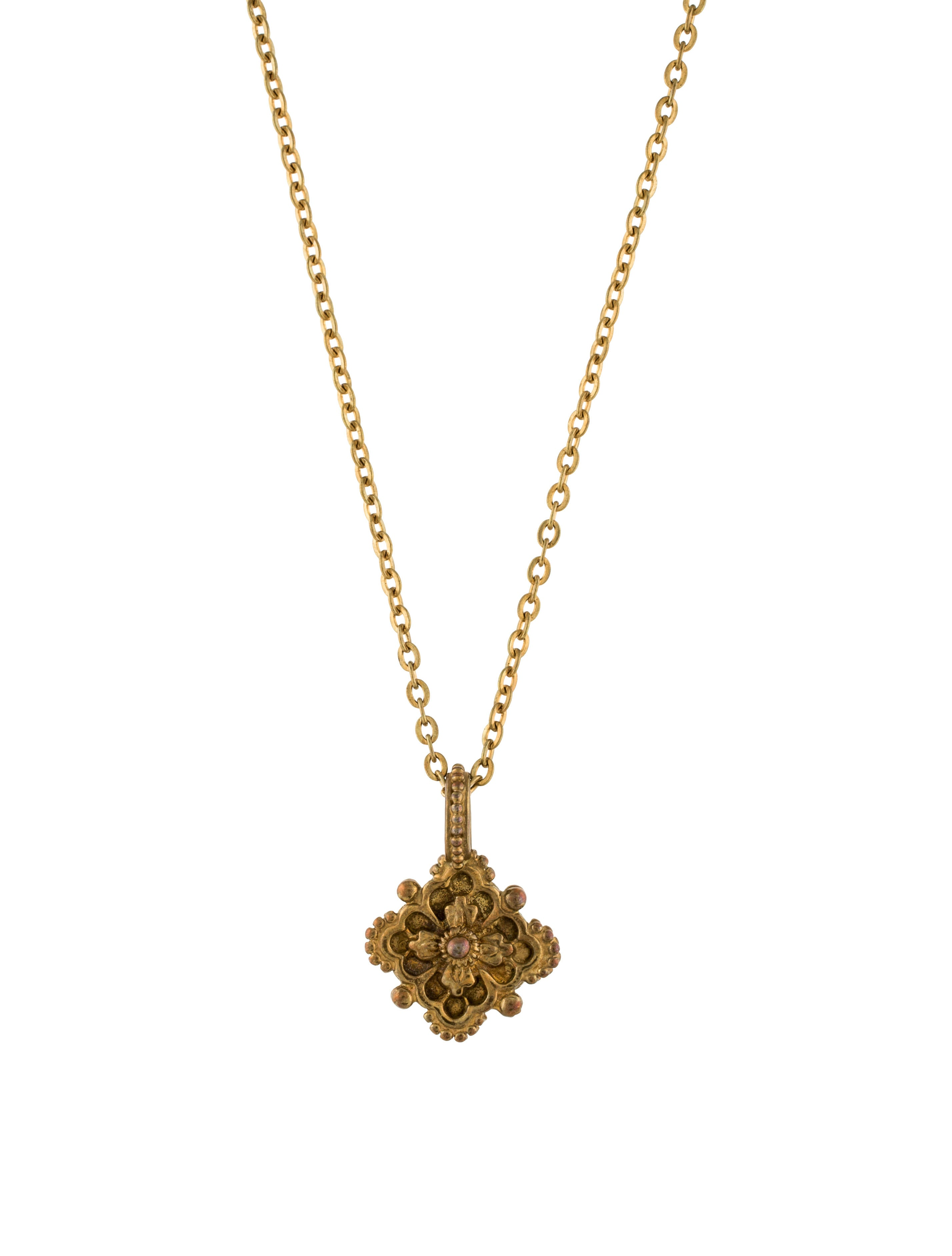 stephen dweck square floral pendant necklace necklaces