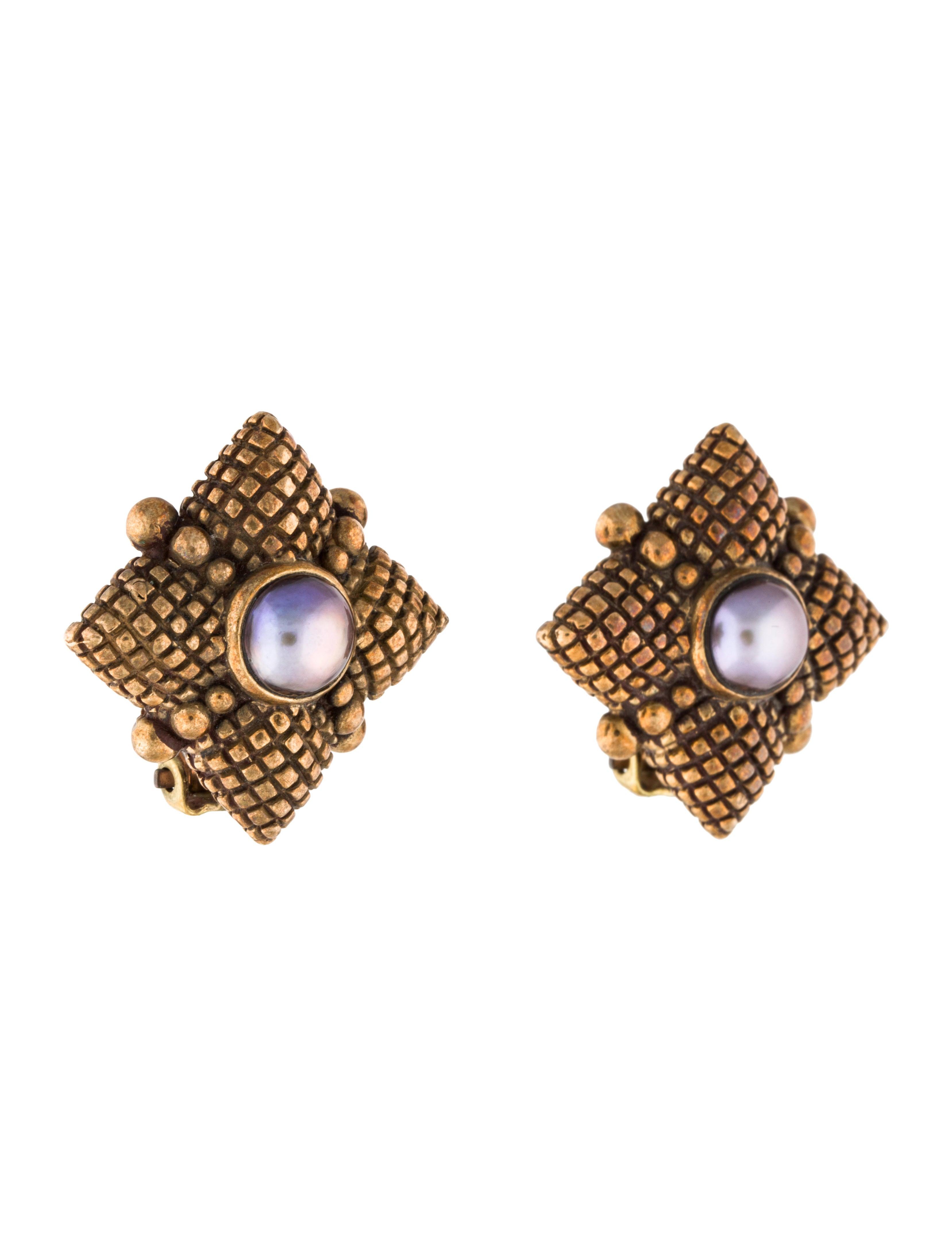 stephen dweck pearl clip on earrings earrings std22004. Black Bedroom Furniture Sets. Home Design Ideas